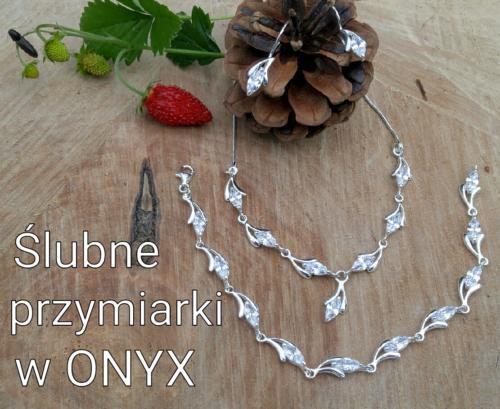 Kolczyki, naszyjnik i bransoleta z cyrkoniami - srebro 925