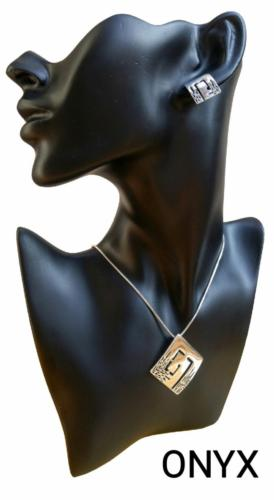 Kolczyki i wisior - srebro 925